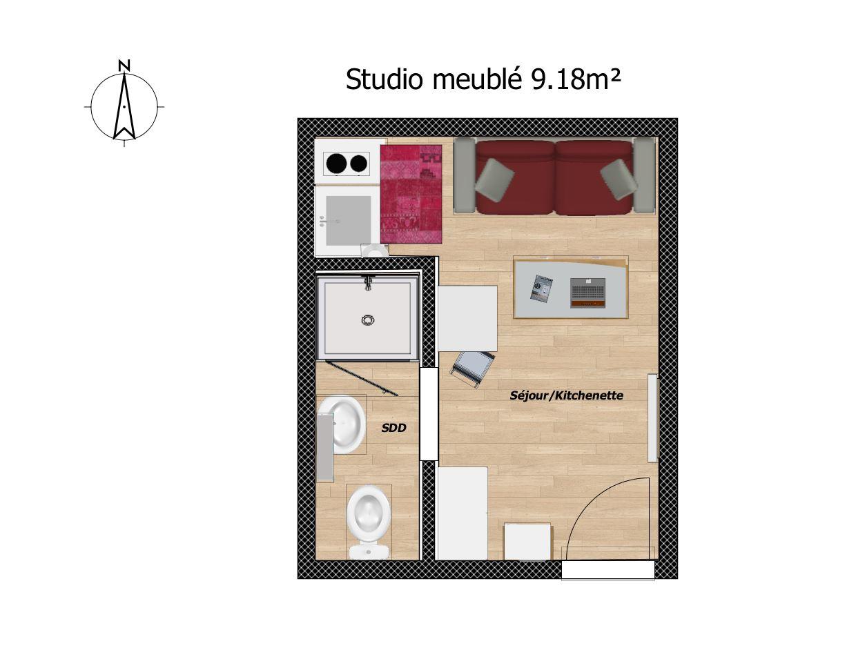 Studio meubl 1 pi ce le pecq reevols coach immobilier - Meuble de studio d enregistrement ...