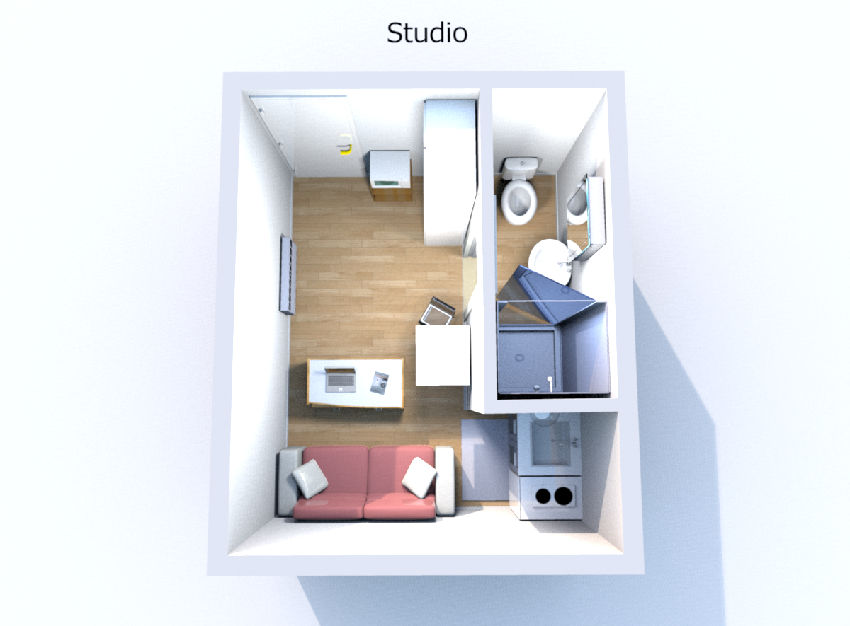 studio meubl 1 pi ce le pecq reevols coach immobilier. Black Bedroom Furniture Sets. Home Design Ideas